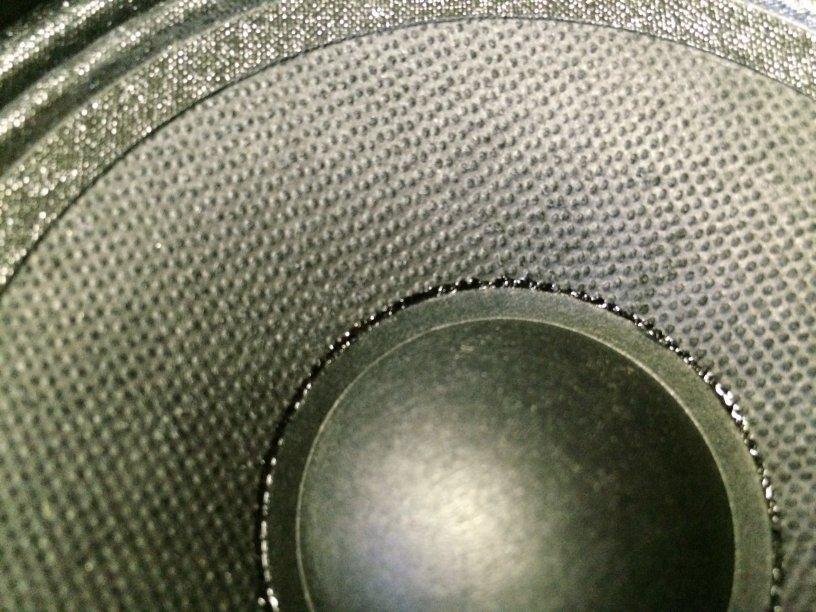 Close-up van de midden tonen luidspreker unit